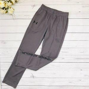 Grey Under Armour HeatGear Mesh Pants